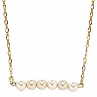 Classic White Pearl Bead Necklace
