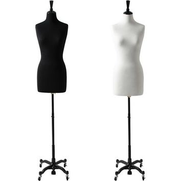 AFD-066B Ladies French Dress Form with Rolling Caster Base