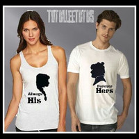 Disney Inspired Couples TShirt Anna and Kristoff Inspired, Couples Tanks Disney Princess Inspired Shirts