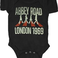 The Beatles Abbey Road London 1969 Black Infant Baby Onesuit Romper - The Beatles - | TV Store Online