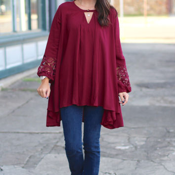 Changing Directions Tunic {Burgundy}