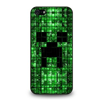 CREEPER MINECRAFT 3 iPhone 5 / 5S / SE Case Cover
