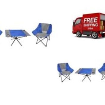 Camping Table Set Outdoor Folding 3 Piece Dining 2 Chairs And Table Perfect
