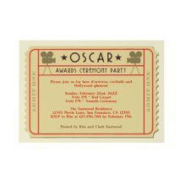 Movie Ticket Oscar Award Ceremony Party Invitation
