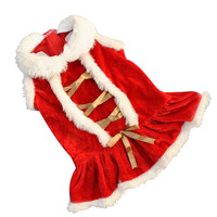Christmas Dog Clothes Santa Doggy Costumes Clothing Pet Apparel outfit Red Xmas style Coat party dress up supply 2016