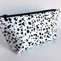 Small Makeup Bag,Small Cosmetic Bag,Small Purse Pouch,Dalmation pouch,Small Zipper pouch,Splatter Makeup Bag