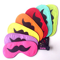 PARTY PACK Mustache sleep masks Slumber party Bachelorette party Pajama party Spa party Sleepover party pack