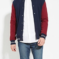 Colorblocked Varsity Jacket