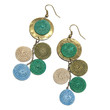 Hammered Brass and Sisal Drop Earrings