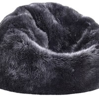 Sheepskin Bean Bag in Steel