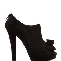 Bow Peep Toe Ankle Boots