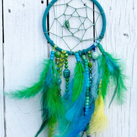 Turquoise and Green Buddha Dream Catcher