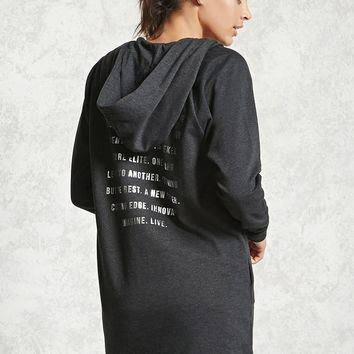 Active Longline Graphic Hoodie