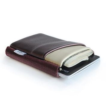 TGT DELUXE WALLET-PEARLIZED BURGUNDY/CREAM