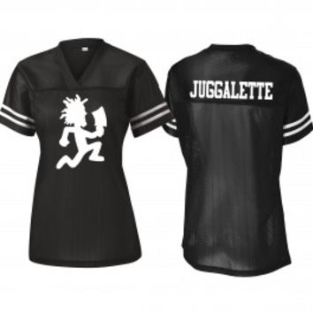 Girl's Football Jersey – Juggalette – White Hatchetman – Black - Back In Stock