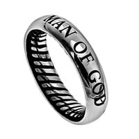 Men's Traditional Band Ring - Man Of God | Mardel