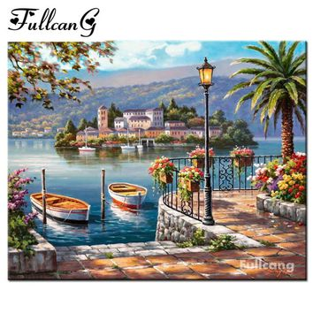 5D Diamond Painting Island in the Bay Kit