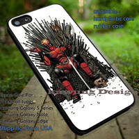 Deadpool Iron Throne Chair Game Of Thrones iPhone 6s 6 6s+ 5c 5s Cases Samsung Galaxy s5 s6 Edge+ NOTE 5 4 3 #movie #disney #animated #marvel #comic #deadpool #gameofthrones  dt