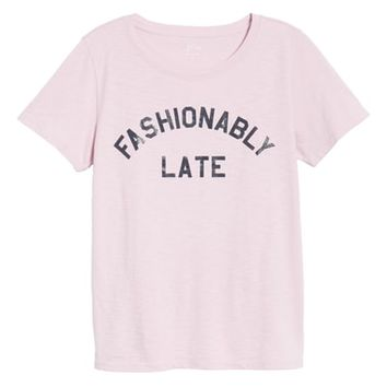 J.Crew Fashionably Late Tee (Regular & Plus Size) | Nordstrom
