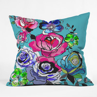 Mary Beth Freet Pen And Pink Throw Pillow