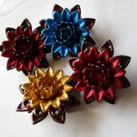 Copper Flower Brooch