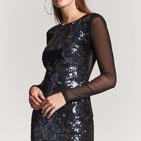 Sheer Sequin Mesh Dress