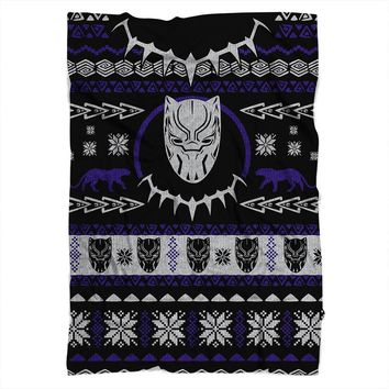 Black Panther Christmas Blanket