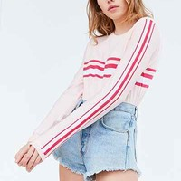 BDG Placement Stripe Long-Sleeve Tee - Urban Outfitters