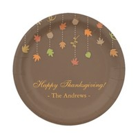 Modern Elegant Thanksgiving Party Supplies Paper Plate
