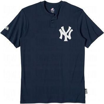 New York Yankees (ADULT 3X) Two Button MLB Officially Licensed Majestic Major League B