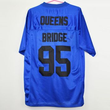 Prodigy #95 Hennessy Queens Bridge Blue Football Jersey