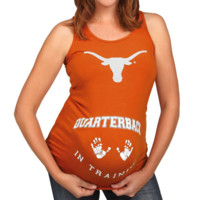 Texas Longhorns Maternity QB in Training Tank Top - Burnt Orange