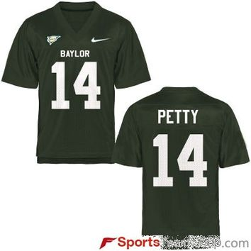 Nike Baylor Bears Bryce Petty #14 Green Stitch Jersey