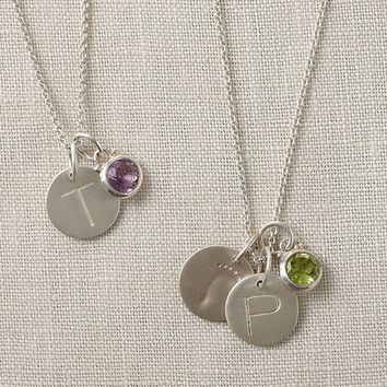 Silver Chain Charm Necklace