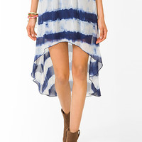 Tie-Dye High-Low Skirt