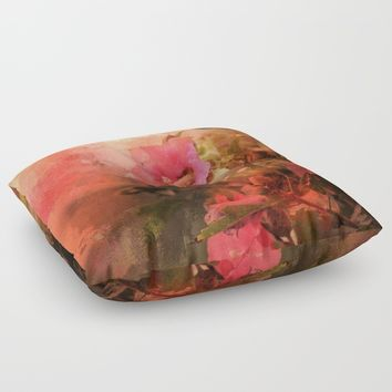 Bliss Floor Pillow by Theresa Campbell D'August Art