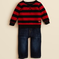 7 For All Mankind Infant Boys' Striped Sweatshirt & Jean Set - Sizes 0-9 Months