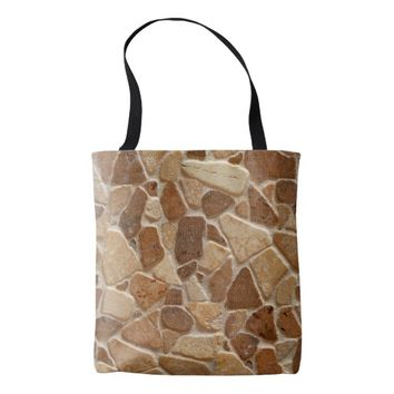 Wheatish Tan Sandstone Pebbles Tote Bag