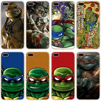 G182 Ninja Turtles Transparent Hard Thin Case Cover For Apple iPhone XR XS Max 4 4S 5 5S SE 5C 6 6S 7 8 X Plus