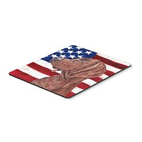 Redbone Coonhound with American Flag USA Mouse Pad, Hot Pad or Trivet SC9635MP