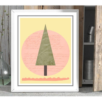 Minimal printable, minimal poster, minimal wall art, download, minimal nursery artwork, Nordic nursery wall art, yellow pink coral, baby art