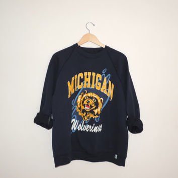Vintage Michigan Crewneck Sweatshirt Size XL