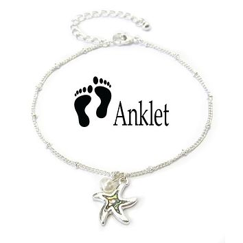 Abalone Charm Starfish Anklet