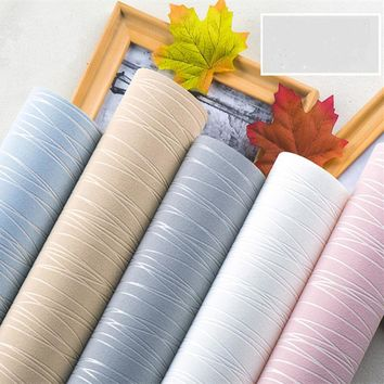 Simple Striped  Nonwoven Fabric Soft wall paper roll wallpapers for living room bedroom Backdrop Solid-color 3D wallpaper