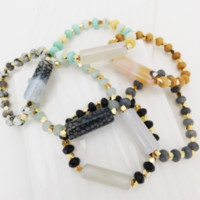 Luxe Natural Stone Bracelet