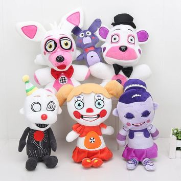 2018  Plush Toys  At Freddy Plush Toy Bear Fox Bonnie Chica Golden Freddy Nightmare Fred Bear Kids Toys