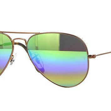 Sunglasses Ray-Ban RB3025 AVIATOR 9018C3 BRONZE/MIRROR RAINBOW