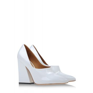 Acne Studios: Ilona White Patent Leather Pump