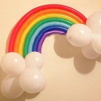 PuTwo  Party Balloons 40'' Rainbo Latex Balloons for Baby Shower Birthday Decoration Kids Party Supplies