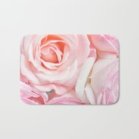 pink roses Bath Mat by sylviacookphotography